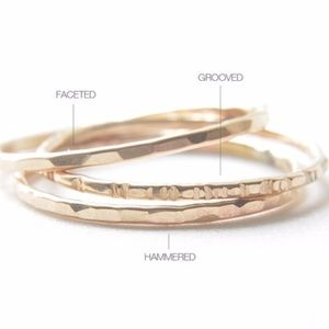 ALL SIZES RESTOCKED! Gold Stacking Ring Set